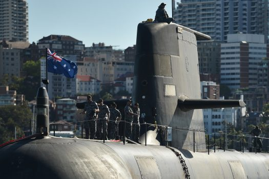 Australia on April 2016 awarded French contractor DCNS the main contract to design and build its next generation of submarines to replace its current fleet of six Collins-class vessels. The new submarines will be a scaled-down, conventionally powered version of France's 4,700-tonne nuclear-fuelled Barracuda. (Peter Parks/AFP/Getty Images)